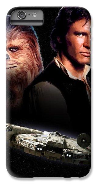 Han Solo iPhone 6 Plus Case - Han Solo - Millenium Falcon by Paul Tagliamonte