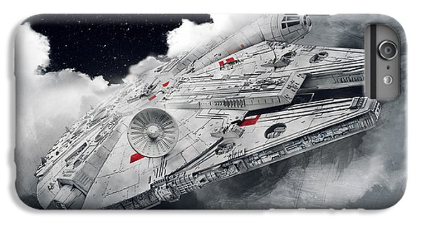 Han Solo iPhone 6 Plus Case - Millennium Falcon by Afterdarkness