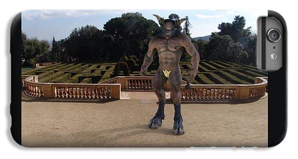 Minotaur In The Labyrinth Park Barcelona. IPhone 6 Plus Case