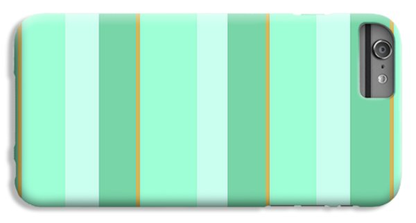 IPhone 6 Plus Case featuring the mixed media Mint Green Stripe Pattern by Christina Rollo