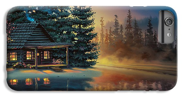 IPhone 6 Plus Case featuring the painting Misty Refection by Al Hogue