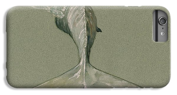Moby Dick The White Sperm Whale  IPhone 6 Plus Case by Juan  Bosco