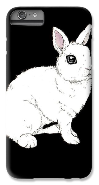 Monochrome Rabbit IPhone 6 Plus Case by Katrina Davis