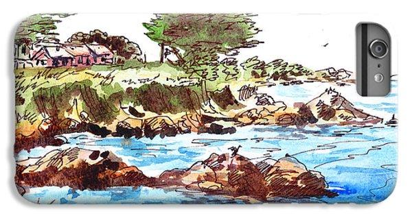 IPhone 6 Plus Case featuring the painting Monterey Shore by Irina Sztukowski