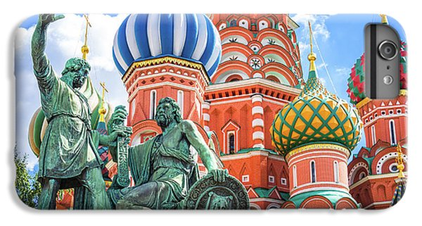 Moscow iPhone 6 Plus Case - Monument To Minin And Pozharsky by Delphimages Photo Creations