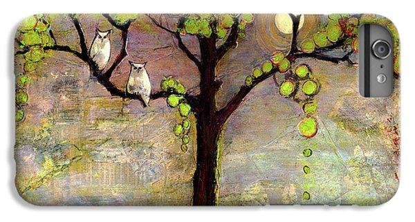 Moon River Tree Owls Art IPhone 6 Plus Case by Blenda Studio