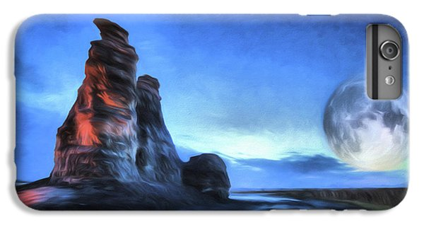 IPhone 6 Plus Case featuring the digital art Moonrise Over Castle Rock by JC Findley