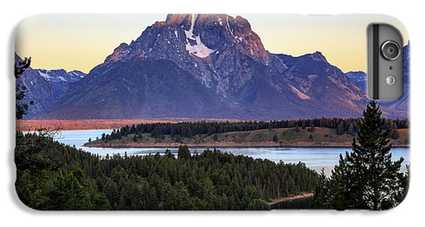 IPhone 6 Plus Case featuring the photograph Morning At Mt. Moran by David Chandler