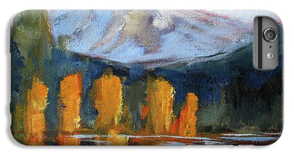 IPhone 6 Plus Case featuring the painting Morning Light Mountain Landscape Painting by Nancy Merkle