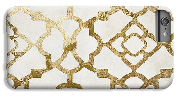 White iPhone 6 Plus Case - Moroccan Gold I by Mindy Sommers