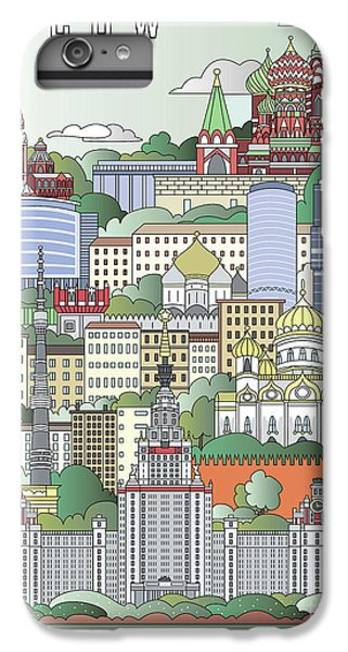 Moscow City Poster IPhone 6 Plus Case by Pablo Romero