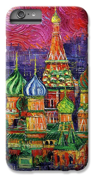 Moscow iPhone 6 Plus Case - Moscow Saint Basil's Cathedral by Mona Edulesco