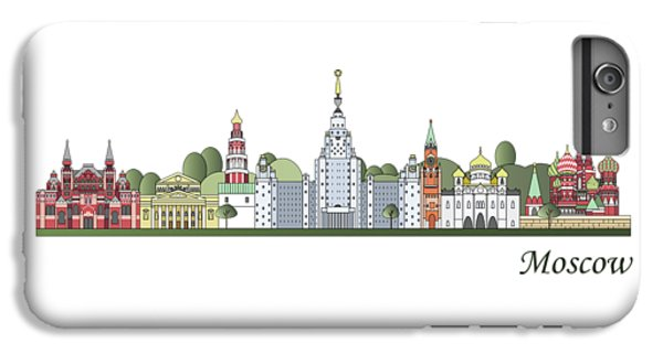 Moscow Skyline Colored IPhone 6 Plus Case