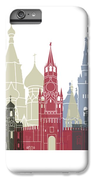 Moscow Skyline Poster IPhone 6 Plus Case
