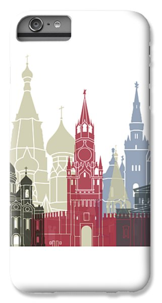 Moscow Skyline Poster IPhone 6 Plus Case by Pablo Romero