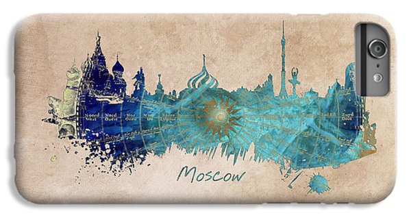 Moscow Skyline Wind Rose IPhone 6 Plus Case