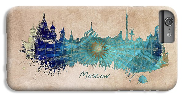 Moscow Skyline Wind Rose IPhone 6 Plus Case by Justyna JBJart