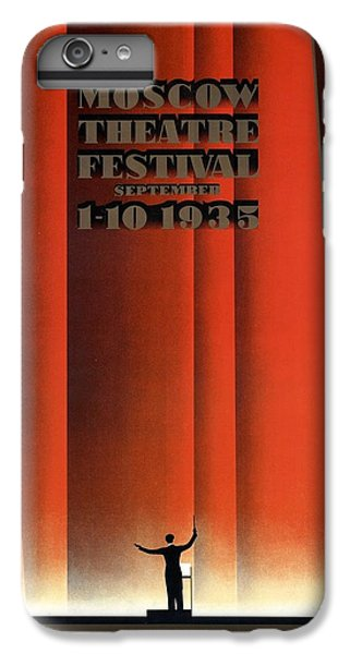 Moscow iPhone 6 Plus Case - Moscow Theatre Festival 1935 - Russia - Retro Travel Poster - Vintage Poster by Studio Grafiikka