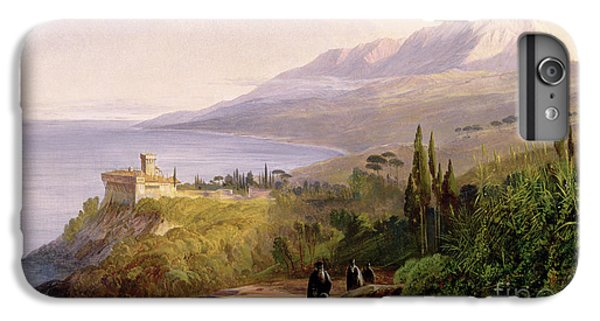 Mount Athos And The Monastery Of Stavroniketes IPhone 6 Plus Case by Edward Lear