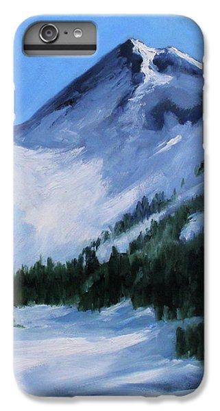 IPhone 6 Plus Case featuring the painting Mount Baker Glacier by Nancy Merkle