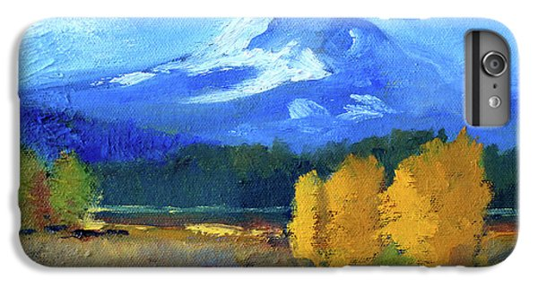 IPhone 6 Plus Case featuring the painting Mount Hood by Nancy Merkle