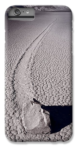 Desert iPhone 6 Plus Case - Moving Rocks Number 2  Death Valley Bw by Steve Gadomski