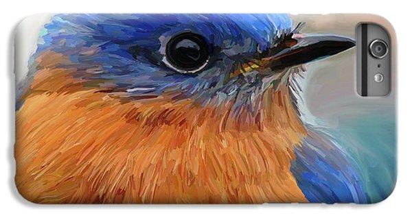 Bluebird iPhone 6 Plus Case - Mr. Blue by Patti Siehien