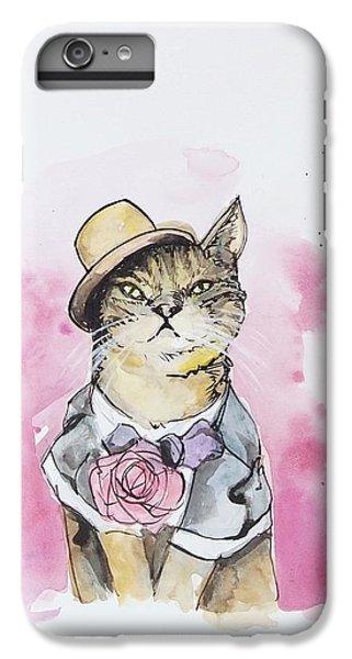 Cat iPhone 6 Plus Case - Mr Cat In Costume by Venie Tee