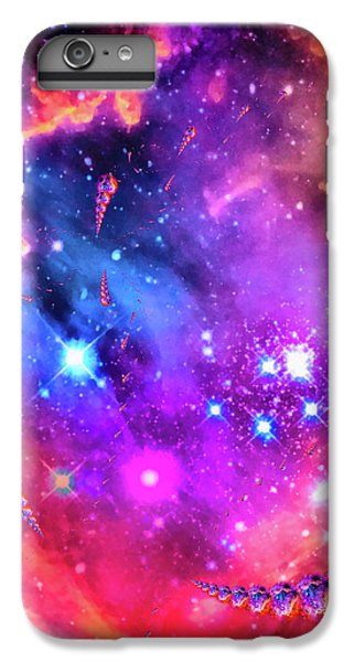 Orange iPhone 6 Plus Case - Multi Colored Space Chaos by Matthias Hauser