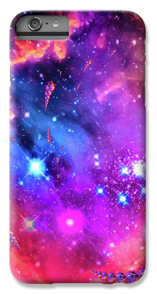 Colorful iPhone 6 Plus Case - Multi Colored Space Chaos by Matthias Hauser