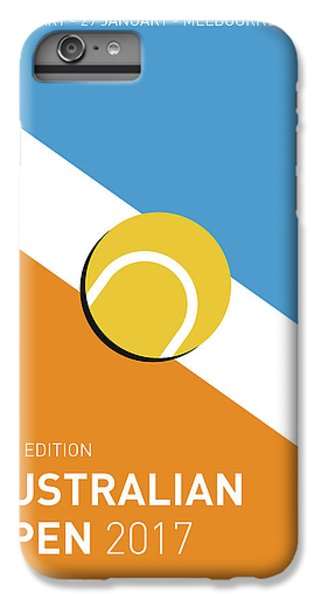 Tennis iPhone 6 Plus Case - My Grand Slam 01 Australian Open 2017 Minimal Poster by Chungkong Art