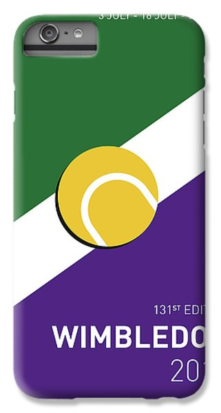 Tennis iPhone 6 Plus Case - My Grand Slam 03 Wimbeldon Open 2017 Minimal Poster by Chungkong Art