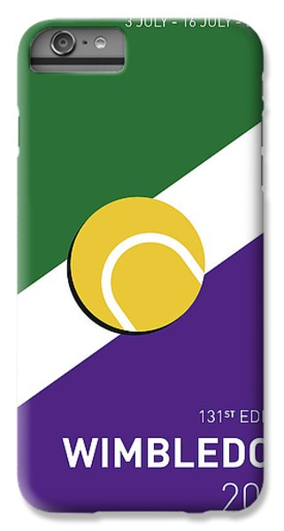 My Grand Slam 03 Wimbeldon Open 2017 Minimal Poster IPhone 6 Plus Case by Chungkong Art