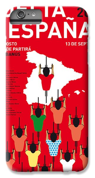 My Vuelta A Espana Minimal Poster Etapas 2015 IPhone 6 Plus Case by Chungkong Art