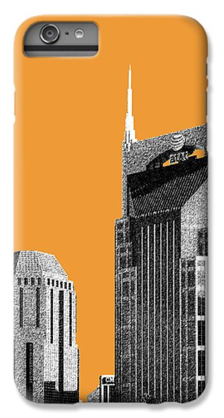 Nashville Skyline At And T Batman Building - Orange IPhone 6 Plus Case