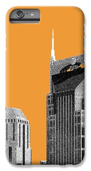 Nashville Skyline At And T Batman Building - Orange IPhone 6 Plus Case by DB Artist