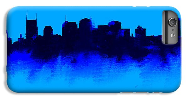 Nashville  Skyline Blue  IPhone 6 Plus Case by Enki Art
