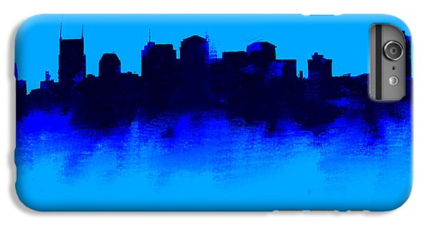 Nashville  Skyline Blue  IPhone 6 Plus Case by Enki Art