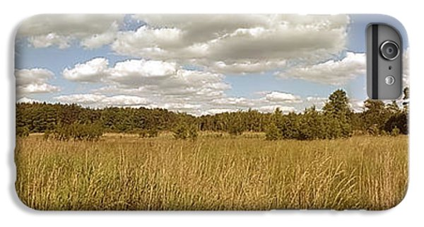 Sunny iPhone 6 Plus Case - Natural Meadow Landscape Panorama. by Arletta Cwalina