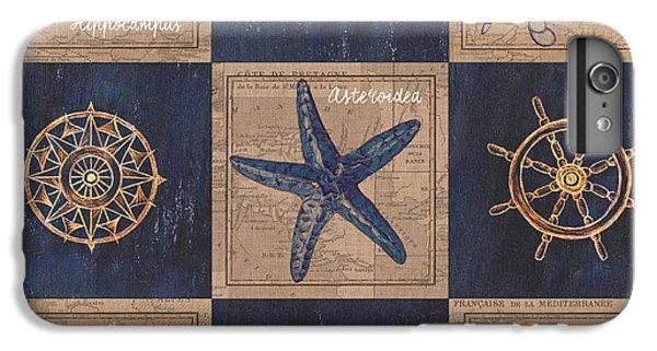 Beach iPhone 6 Plus Case - Nautical Burlap by Debbie DeWitt