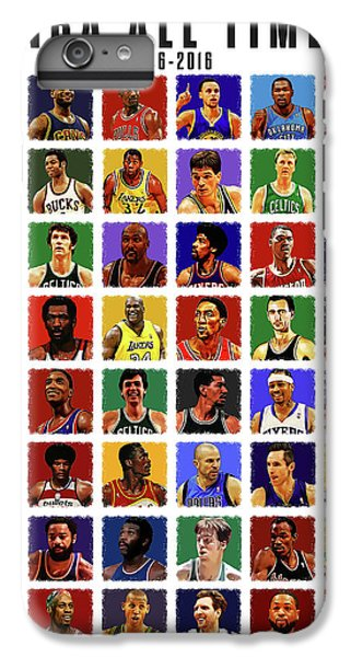 Nba All Times IPhone 6 Plus Case by Semih Yurdabak