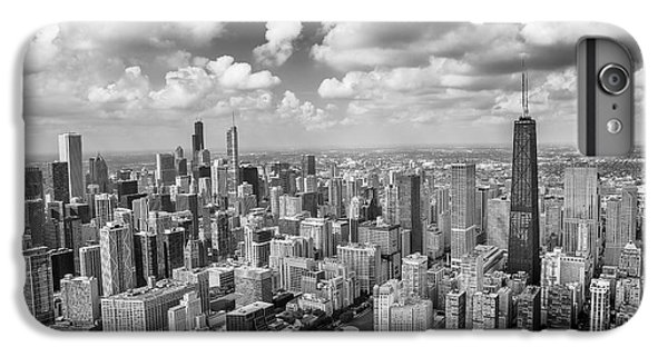 IPhone 6 Plus Case featuring the photograph Near North Side And Gold Coast Black And White by Adam Romanowicz