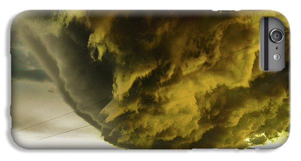 Nebraskasc iPhone 6 Plus Case - Nebraska Supercell, Arcus, Shelf Cloud, Remastered 018 by NebraskaSC