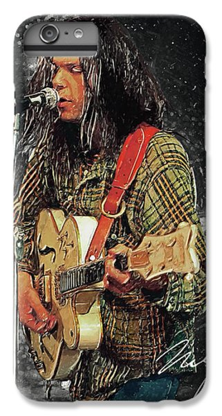 Neil Young IPhone 6 Plus Case by Taylan Apukovska