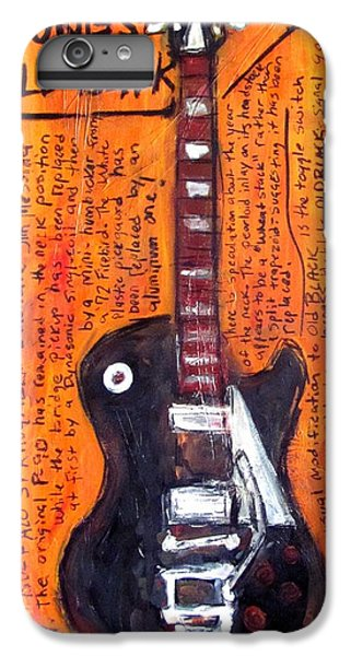 Neil Young's Old Black IPhone 6 Plus Case by Karl Haglund