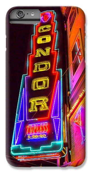 Condor iPhone 6 Plus Case - Neon Condor San Francisco by Garry Gay