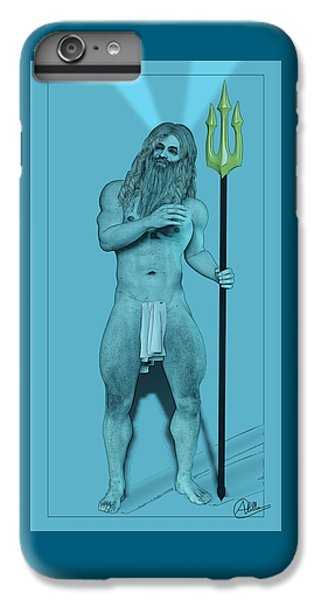 Newts iPhone 6 Plus Case - Blue Neptune by Quim Abella