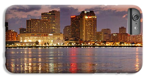 City Sunset iPhone 6 Plus Case - New Orleans Skyline At Dusk by Jon Holiday