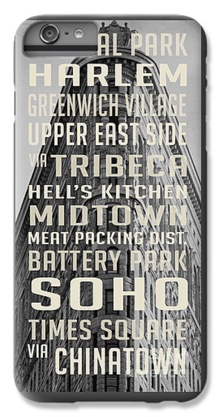 Harlem iPhone 6 Plus Case - New York City Subway Stops Flat Iron Building by Edward Fielding