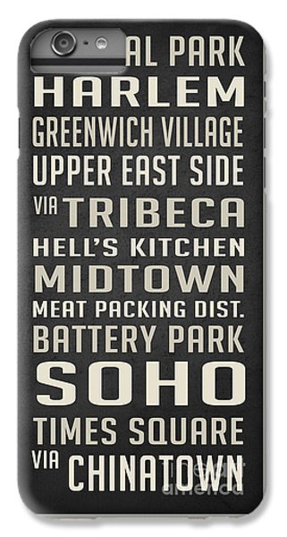 Harlem iPhone 6 Plus Case - New York City Subway Stops Vintage by Edward Fielding